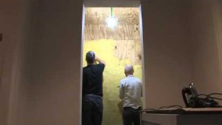 Wolfgang Laib :: Installing the Laib Wax Room
